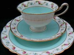 Lovely SHELLEY tea trio cup saucer plate set