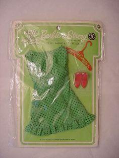 RARE Vintage Barbie GREEN Sunshiner Dress NRFP