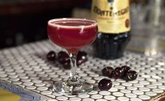 Ferrovia 1.5 oz Amaro Montenegro .75 oz Vecchio Romagna .5 oz simple syrup .75 oz lemon .5 oz black cherry puree 1 dash mole bitters