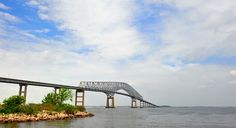 Key bridge spanning the Chesapeake Bay in Maryland (From: Crabbing Along Maryland's Eastern Shore)