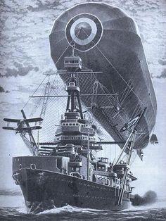 Dieselpunk: Navy airship