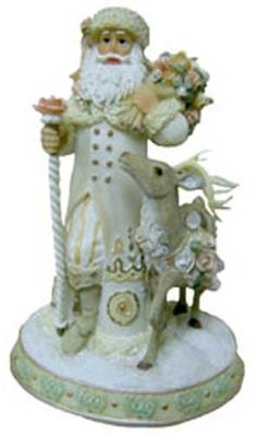 Victorian Santa Claus Decorations with Deer * Find out more about the great product at the image link. (This is an affiliate link) #CollectibleFigurines