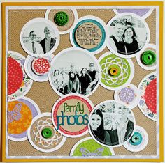#papercraft #scrapbook #layout  Another layout with circles - by Melissa Mann