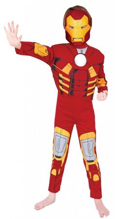 Boys Iron Man Superhero Book Week Fancy Dress Costume Marvel Avengers Outfit