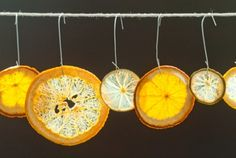 Homemade Citrus Ornaments | Whole Foods Market. These might be fun. In the comments, people say they retain their scent, and someone suggests using them to adorn gifts. Also, others use ribbons or raffia to hang them.