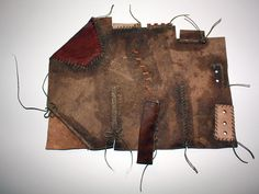 Inspired by ´Stepping Through Times´  Olaf Goubitz. A sample of stitches used in the Middle Ages to sew turn shoes