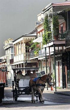 A street in the city of New Orleans. Colonial Architecture, Unique Architecture, Facade Architecture, Travel List, Time Travel, Voyage Usa, New Orleans City, Ville New York, Louisiana Purchase
