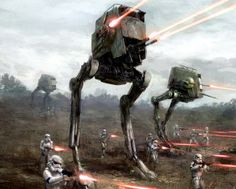 AT-ST on the battlefield by Michel Koch