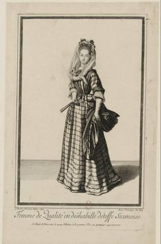 Jean Dieu de Saint-Jean (1654?-1695) - Femme de qualité en deshabillé d'étoffe siamoise, 1687 - Paris, Bibliothèque Nationale de France