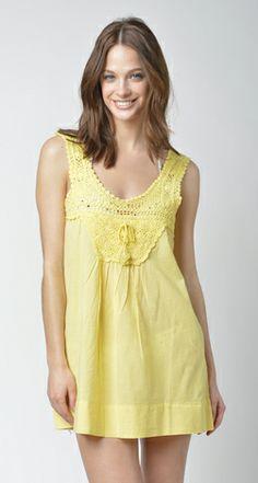 Lisa Curran Swim - Crochet Top in Lemon