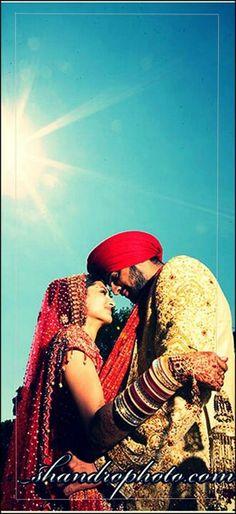 Dulha and dulhan Indian bride and groom Desi wedding Punjabi Pakistan sikh