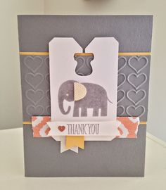 Little Bay Stampin': Baby Thank You Cards