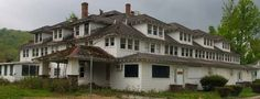 Hard times have fallen on the Catskill resorts in general and on Maplecrest, NY, in particular. It has been many years since this hotel saw its last guest. Even abandoned, it is a perfect example of commercial Craftsman architecture.