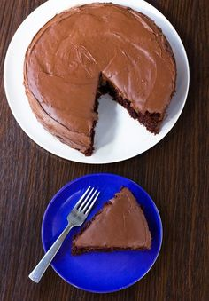 This simple vegan chocolate cake recipe is perfect for any occasion and is a great recipe to have on hand. Everyone loves this cake!