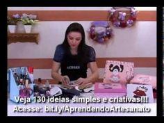 Artesanato - Patch work embutido em 3D - YouTube