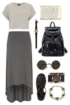 """""""Stop looking like a soccer mum"""" by cigerett ❤ liked on Polyvore featuring Topshop and River Island"""