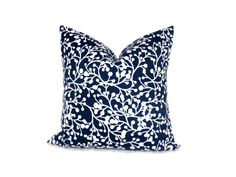 Dark Blue Pillow 20x20 inch Decorator Pillow by eastandnest, $19.00