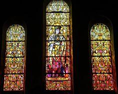 Eglise Saint-Martin - Vitrail de Saint Martin. Mers-les-Bains (Somme)(Picardie)