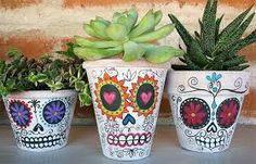 mexican skull flower pot - Google Search
