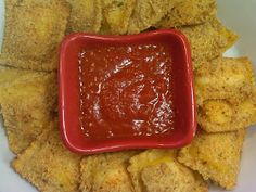 Michele's Woman Cave: Baked Cheese Ravioli