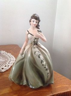 """Vintage Napcoware Lady in Gown Figurine Planter #C-6363 - 7.5"""""""