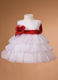 Click here: http://www.jalisbridal.com/full-collection/infant-gowns/lc-129.html $75... Infant flower girl dress with ruffled skirt
