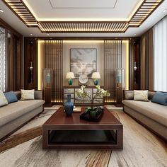新中式客厅全景家装全景模型模型-3d模型分享交流平台-原创3d模型下载-3d模型下载网站