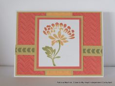 CTMH Sorbet and Creme Brulee combined with Happy Autumn stamp set