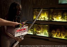 The Walking Dead Season 3 Behind the Scenes Photos  Danai Gurira (Michonne) in Episode 8 #thewalkingdead