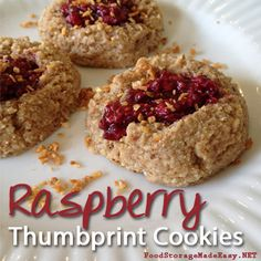 Raspberry Almond Thumbprint Cookies – Gluten free, vegan, and DELICIOUS!