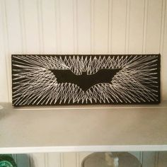 Check out this item in my Etsy shop https://www.etsy.com/listing/243179656/dark-knight-string-art