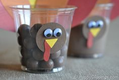 Thanksgiving turkey craft - Made these with the kids after school today