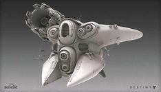 Destiny: Ketch, Mark Van Haitsma on ArtStation at… Spaceship Design, Spaceship Concept, Concept Ships, Concept Art, Aliens, Destiny Fallen, Alien Ship, Sci Fi Ships, Futuristic Cars