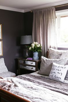 Charcoal-plum and neutrals