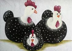 Resultado de imagem para pinturas em panos de pratos galinhas