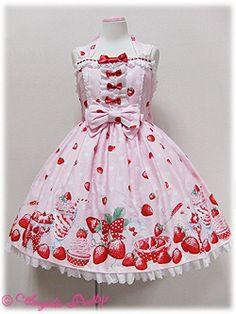 Lolibrary | Angelic Pretty - JSK - Milky Berry Halter Neck JSK