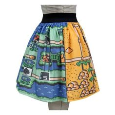 Super Mario Bros. Skirt ❤ liked on Polyvore