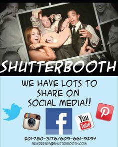 ShutterBooth New Jersey Loves Social Media! New Jersey Photo Booth