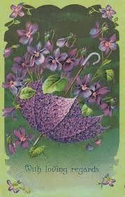 Image result for purple floral postcard