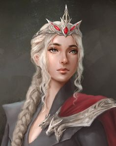 Aurora- Queen of Empire Long Ago, fought the Demons from another world away and was stabbed by one of her own, mother of Cody along with Kirin(her familiar). Iconic Characters, Dnd Characters, Fantasy Characters, Character Portraits, Character Art, Daenerys Targaryen Art, Rhaegar And Lyanna, Buildings Artwork, Game Of Thrones Art