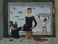 Roberto Montenegro (1887-1968) La primera dama, 1942 Óleo sobre cartón 27.3 x 36 cm © Colección Andrés Blaisten