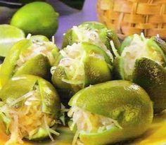 Limones Rellenos de Coco. Receta de Cocina Mexicana | Cocina Muy Facil