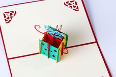 Gift Box 3D Pop Up Card – Gesture Cards