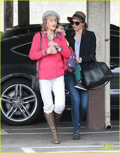 Miranda Kerr: Flynn's Gym Stop with Orlando Bloom's Mother Sonia!