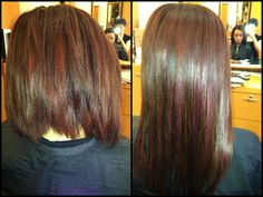 Before & After Hair Extensions by @Rachel R Andonian . #hair #hairextensions #salond