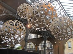 David Trubridge Corals in Natural with White Interior - taken at Sustainable Luxury show in Paris