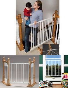 Kidco Angle-Mount Safeway - this gate works for stairways, doorways, and to block off hallways.  Can be mounted on an angle, or straight.