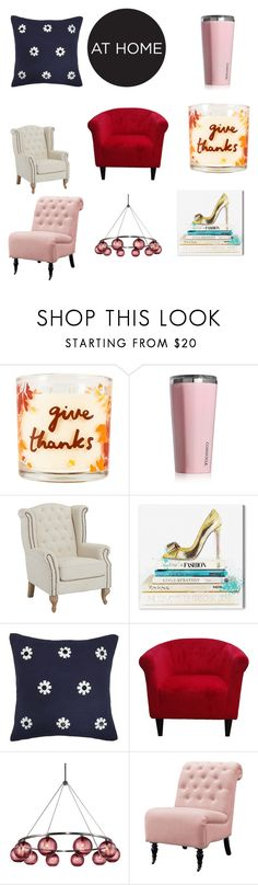 """""""Home"""" by audjvoss ❤ liked on Polyvore featuring interior, interiors, interior design, home, home decor, interior decorating, SONOMA Goods for Life, Corkcicle, Oliver Gal Artist Co. and Kate Spade"""