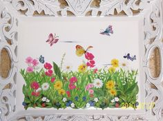 Ornate field of flowers wood tray  pale by MoanasUniqueDesigns http://www.etsy.com/treasury/MjAwOTQ5NDF8MjcyMDQ3MTE0NQ/back-to-nature-random-bns-round-3-all?page=5#comments