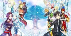 """Crunchyroll - """"Sword Art Online II"""" Caliber and Mother's Rosario Box Art Illustrated by abec"""